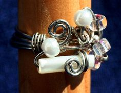 Seaside Pearl Cluster Wire Wrapped Ring by RedBoatStudio on Etsy, $22.00
