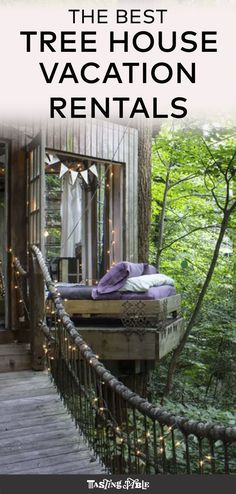 Live every kid's dream by spending your next vacation in one of these treehouse rentals around the world. #vacation #vacationrentals #vacationhouses #airbnb #treehouse #travel #summertravel #summer #traveltips #travelideas