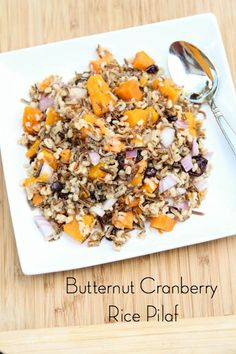 Butternut Cranberry Rice Pilaf ~ freezer friendly | 5DollarDinners.com