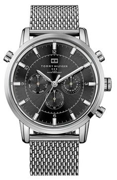 Tommy Hilfiger Chronograph Mesh Strap Watch, 44mm available at #Nordstrom
