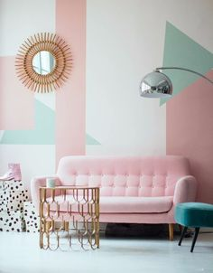 Do not waste your time by remodeling the old look in your living room. Apply the pastel living room interior design ideas here. Decor, Interior, Living Room Decor, Pastel House, Living Room Interior, Pastel Living Room, Pastel Room, Retro Home, Living Decor