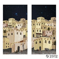 Nativity Pageant Backdrop Banner $10.50 for the 2 pc set 6ft x 6 ft