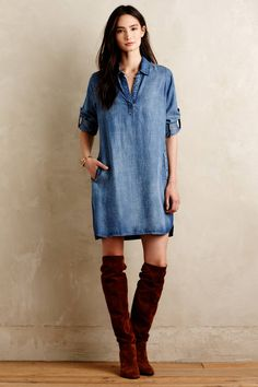 Adalie Denim Tunic Dress - anthropologie.com