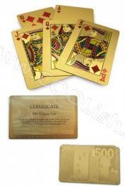 Zlaté karty plastové 24 karátové zlato 500 €