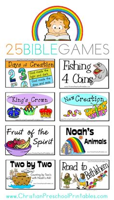 25 Free Printable Bible Games Preschool Bible, Bible Activities, Church Activities, Kids Church Games, Sunday School Activities, Sunday School Lessons, Sunday School Crafts, Bible School Games, Bible Games For Youth