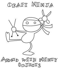Craft Ninja: La #ninja de las #manualidades. Hay días en que me siento así. A través de Urban Threads.