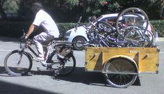 Une remorque pour récupérer des vélos...