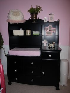 Black hutch, baby nursery