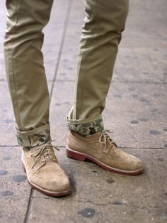 Camo pants and suede shoes eb25b6d66