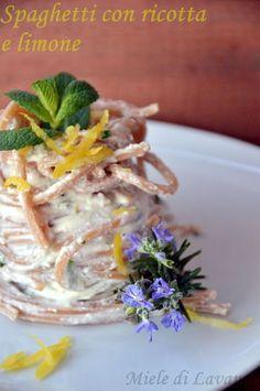 Spaghetti con ricotta e limone