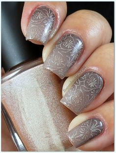Boombastic Nails: Reverse Gradient + Stamp