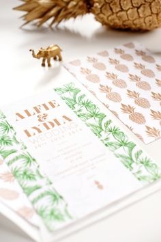 Buy Abigail Warner Tropical Personalised Day Invitations from our Notecards & Invitations range at John Lewis & Partners. Bespoke Wedding Invitations, Wedding Invitation Suite, Wedding Stationery, Personalised Wrapping Paper, Stationery Design, Leaf Prints, Paper Goods, Luxury Wedding, Letterpress