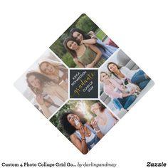 Square Photos, 4 Photos, Cool Photos, Graduation Photos, Graduation Gifts, Graduation Cap Toppers, Custom Photo, Artwork Design