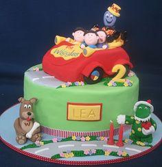 Wiggles Birthday cake - cute & not too big! Wiggles Party, Wiggles Birthday, Car Birthday, Birthday Cakes, Birthday Ideas, Birthday Parties, Mcqueen Car Cake, Car Cake Toppers, 30 Cake