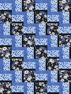 Midnight Floral Garden Quilt Kit - PRE-CUT Blocks