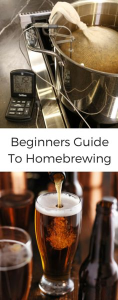 Thermal Tips: Homebrew for Beginners There are many different methods for beer, ranging from the most simple extract brews to complex hand crafted artisanal home-brews. For this post, we used a basic All-Grain Classic Dry Stout Ingredient Kit alon Beer Brewing Kits, Brewing Recipes, Homebrew Recipes, Beer Recipes, Coffee Recipes, Beer Brewery, Make Beer At Home, Brewing Supplies, Home Brew Supplies