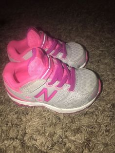 f3f7a5bd5ba5a6 Toddler Girls New Balance Athletic Shoes Toddler Size 4 Hot Pink Gray   fashion  clothing