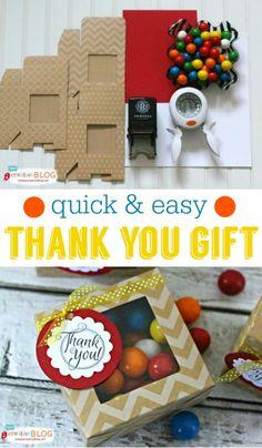 Quick & Easy Thank you Gift | TodaysCreativeBlog.net