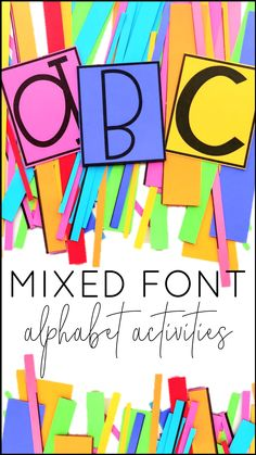 Looking for alphabet activities to help your children or students learn to identify and recognize upper- and lowercase letters? This is a great activity for doing just that! This set of mixed font letters can be used for sorting, making names, word building, spelling practice, sight words, or even on a bulletin board. Print on colored paper, cut, and boom - a great activity for preschool, pre-k, kindergarten, first grade, ESL/ELLs, and students with exceptional needs. You could easily add them t
