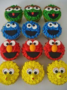 Cupcake Plaza Sésamo Cupcakes, Desserts, Food, Meet, Tailgate Desserts, Cupcake Cakes, Deserts, Essen, Postres