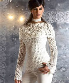 Jacket with a collar-pelerine crochet diagrams pattern pdf | marifu6a - Patterns on ArtFire
