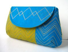 Custom Women's Clutch Handbag by CutOutAndCollect on Etsy, $40.00