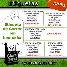Un buen #vendedor conoce la importancia de #etiquetar todos sus productos. En #StoreDepot contamos con etiquetas para todo tipo de mercancía.