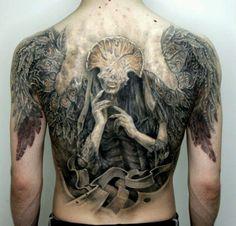 Amazing detailed back piece