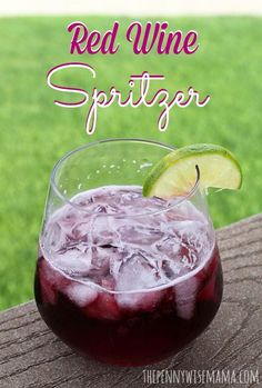 Make your own Wine Spritzer - a super refreshing drink on a hot day! #redwine #spritzer