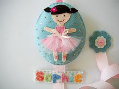 Felt Hair clip holderPersonalizationGreat Baby by MikiStitch, $33.50