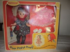 Horsman Poor Pitiful Pearl Doll by William Steig, Style 9982, NIB, So CUTE!