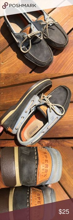 Men's Sperry Top-Siders Blue Sz 11M Men's Sperry Top-siders size 11M navy blue and light blue lightly worn excellent condition Sperry Top-Sider Shoes Boat Shoes
