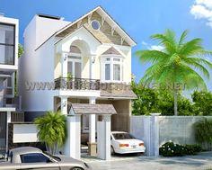 Mẫu nhà 2 tầng mái thái đẹp - Công Ty Thiết Kế Xây Dựng Nhà Ống Đẹp - Nhà Phố Đẹp - http://www.kientrucnhaviet.net