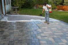Adding Sealer To Concrete Patio Concrete Patio Concrete Stain Patio Patio