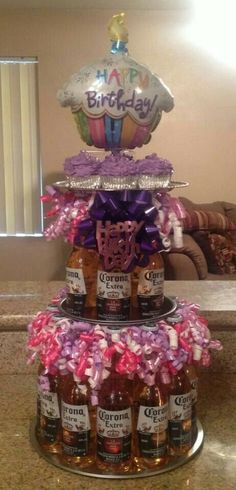 Beer cake - bottles