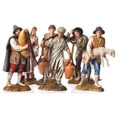 Pastores 6 figuras Belén Moranduzzo 12 cm | venta online en HOLYART