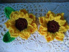 ♥ Dinah's Crochet Stuff ♥: How to crochet Sunflower