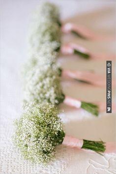 babys breath bouquets | VIA #WEDDINGPINS.NET
