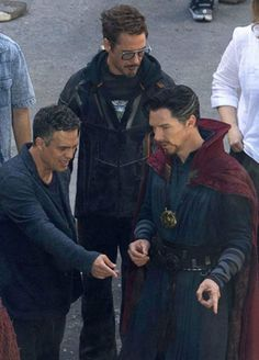 On set for Infinity War♡