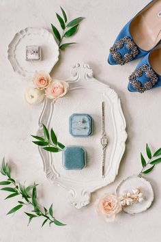 This timeless 'Chic Blue Velvet & Magnolia Country Club Wedding' had whimsical + creative details that you do not want to miss! To see more photos head to stylemepretty.com! Photography: @audrawrisleyphoto Bride's Shoes: @jimmychoo  #countryclubwedding #whimsicalwedding #creativewedding #weddinginspiration #realwedding