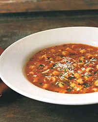 Tomato Soup with Chickpeas and Pasta – this is my favourite recipe at the moment! Great to make during this surprisingly cold June :)