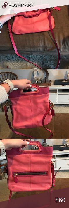 Coach crossbody Coach crossbody. Pink and salmon color. Coach Bags Crossbody Bags