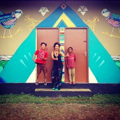 art mural with kids from  freedom school -bali