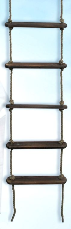 72 x 16 x 3 Rope Ladder with Wooden Steps an idea for a ladder for their loft beds???