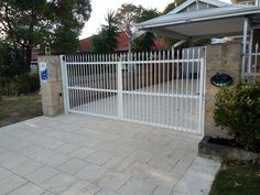 Western Automate recently completed this job in Bicton . Automated with only the best Centsys Vantage 500 Double Swing Gate Motors. Driveway Entrance, Entrance Gates, Automatic Sliding Gate, Gate Motors, Double Swing, Electric Gates, Fence Gate, Perth, Steel
