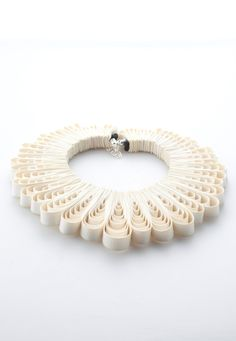 Necklace | BELLES BEJEWELLED-UK  -REBECCA PEARSONDesigns.  A multitude of separate bound leather loops.