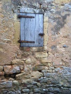 Pale Blue Shuttered Window, Belves, France