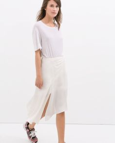 ZARA - NEW THIS WEEK - ASYMMETRIC HEM STUDIO SKIRT