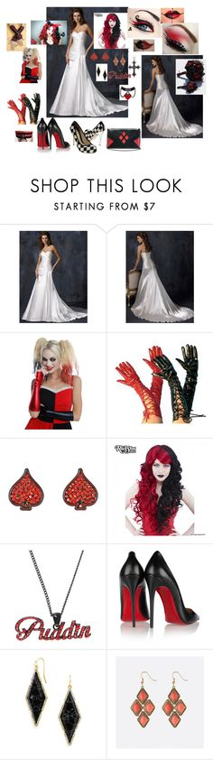 """""""Harley Quinn Wedding Part 1"""" by alexiv on Polyvore featuring Christian Louboutin, BaubleBar and Avenue"""