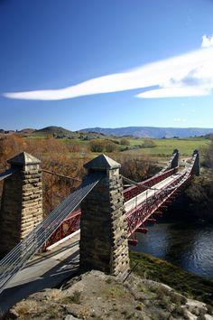Ophir, Central Otago, Historic Daniel O'Connor Bridge in New Zealand